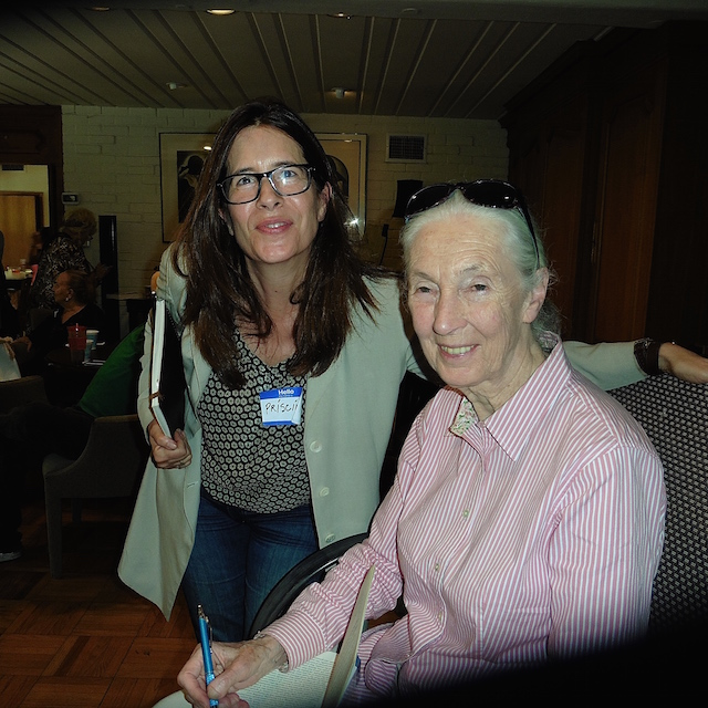 PRISCILLA WOOLWORTH amd dr JANE GOODALL BRENTWOODK 2015 PHOTO LYLE GREGORY free to use however you want