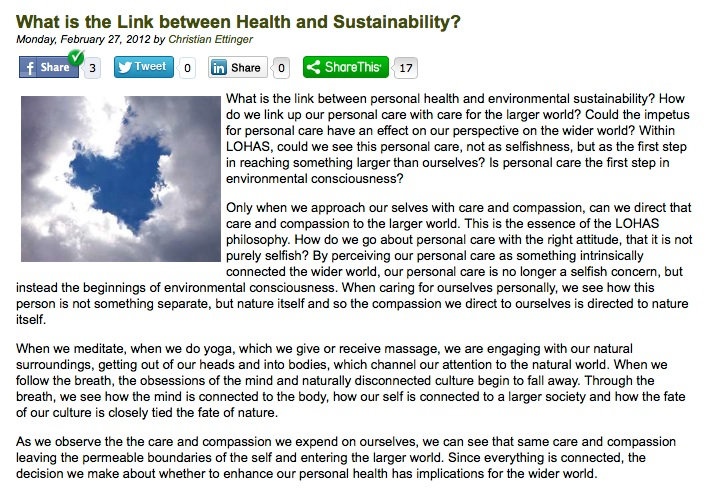link health and sustainability