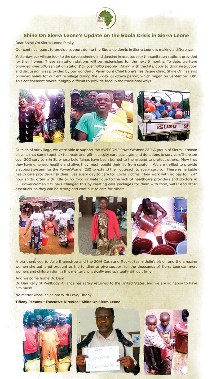 ebola survival fund